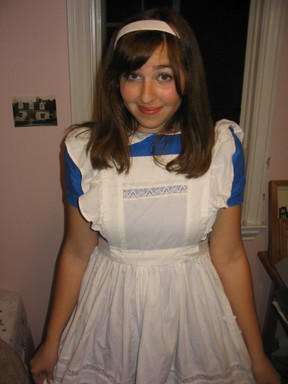 alice in wonderland (i was her for about 3 years in a row in high school)
