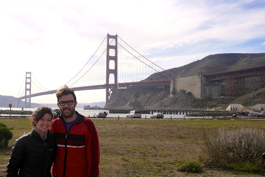 Nate and Courtney in Sausalito
