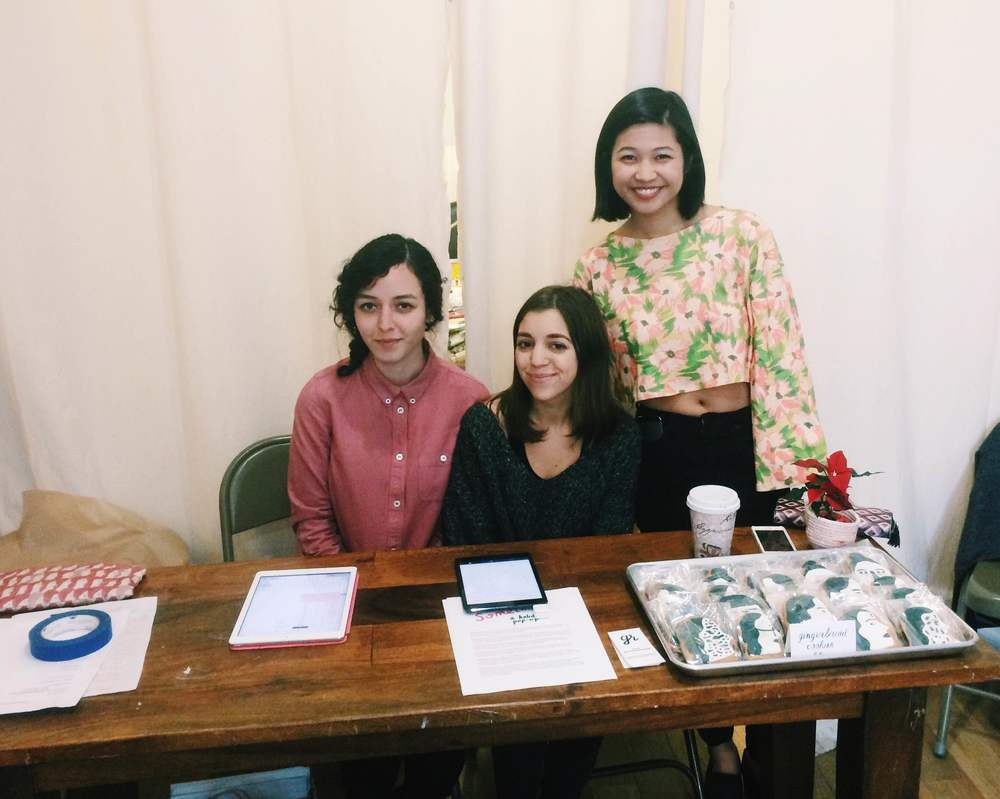 three of the artists: Rachel Levit, Leah Goren, and Monica Ramos
