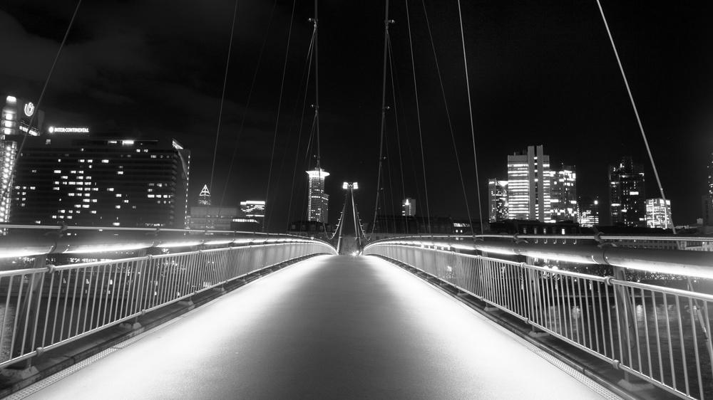 Holbeinsteg Bridge, Frankfurt, Germany 2014