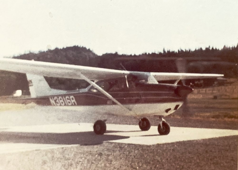 1. Where it started - In 1978 my mom at I took a flight in a 1966 Cessna 172 from Eastsound Washington to tour the San Juan Islands.