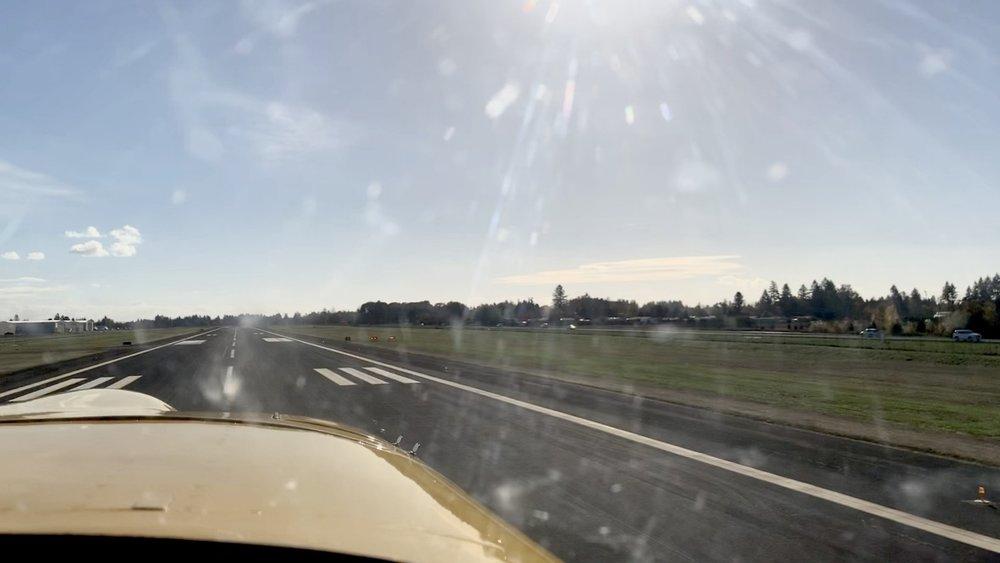 great cross-wind landing demonstration