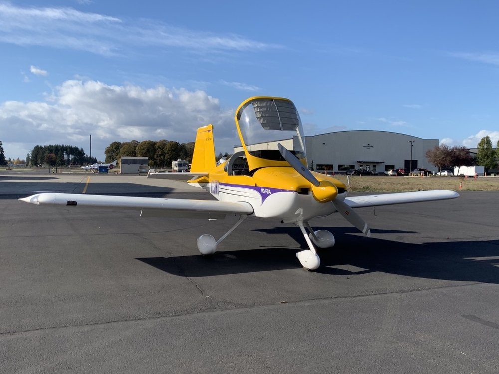 Ready to go flying: N137RV 200hp tip-up RV-7A