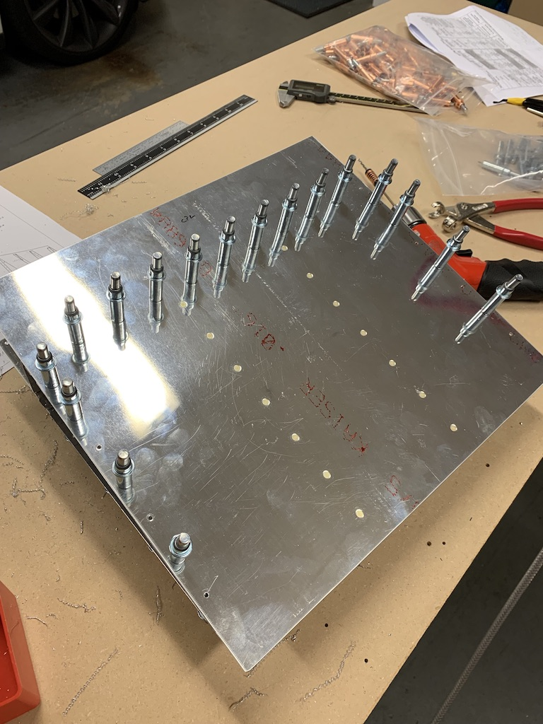 Cleco skins to spar and ribs