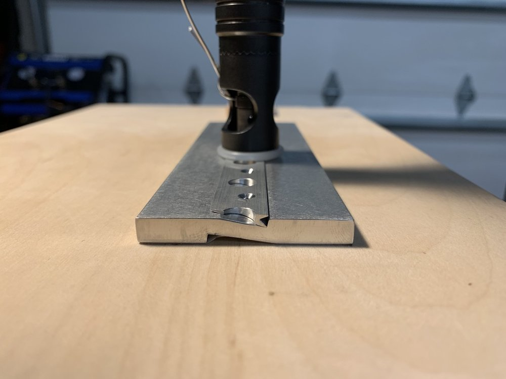 Countersink is parallel to wedge surface
