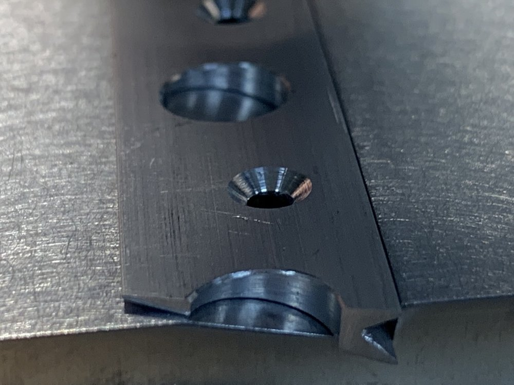 Countersinks came out uniform using the drill press