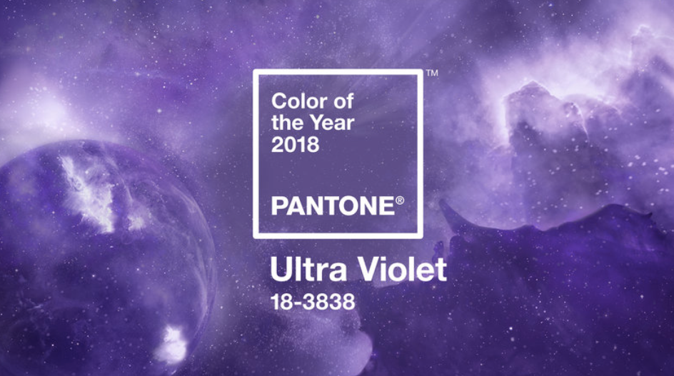 "According to Pantone, ""Ultra Violet is dramatically provocative and thoughtful. Think Prince, or David Bowie, or Jimi Hendrix. Think purple-toned pictures of stars scattered across the galaxy- the vast and limitless night sky. They mysteries of the cosmos."""