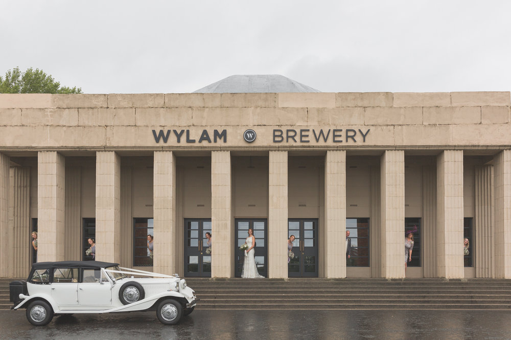 Matt & Leah Wedding Wylam Brewery Bridal Party Photo