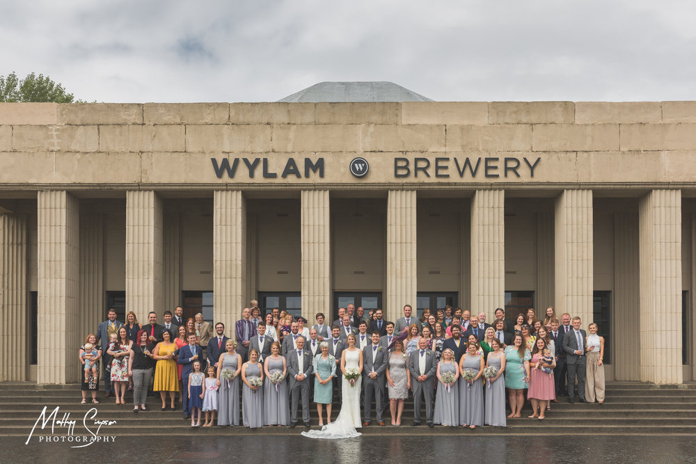 Wylam Brewery Wedding Group Photo