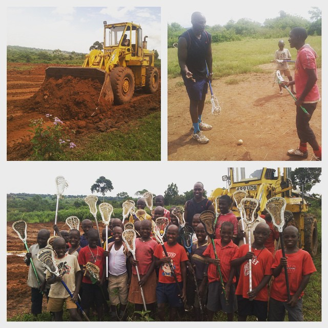 Exciting times at the Hopeful School! New sports fields & library  breaking ground & the kids get a visit from Uganda Lacrosse captain, Patrick Orianna.