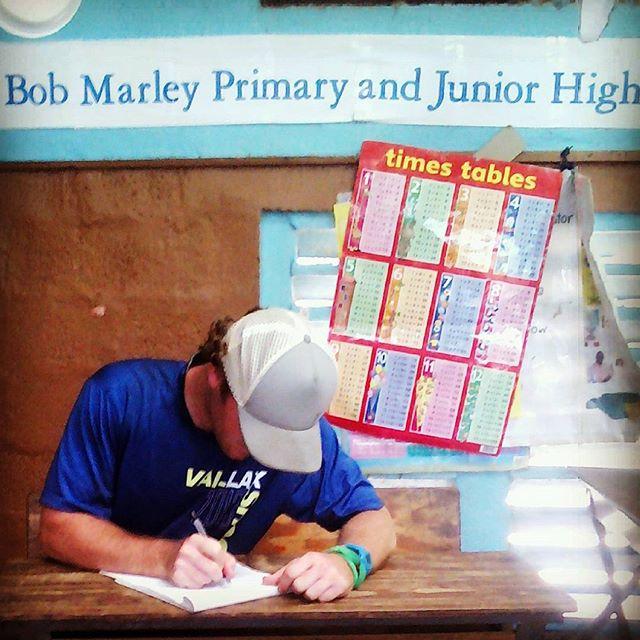 Learning at Bob Marley Primary School #LacrosseVolunteerCorps