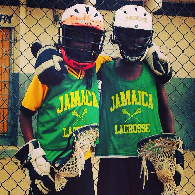 "Proud of our @jamaicalacrosse youth academy week 2 POWs: Abo ""Rasta"" Johnson & Tyrece Farkeson #hardworkers #onelove"