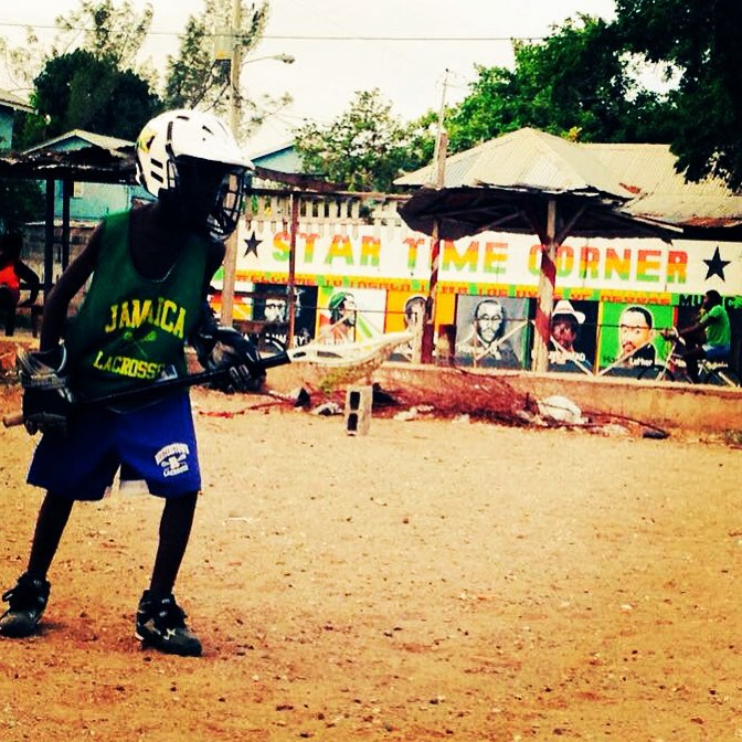 Youth lacrosse in Trenchtown, Jamaica. The best is yet to come. #OneLove #LacrosseVolunteerCorps