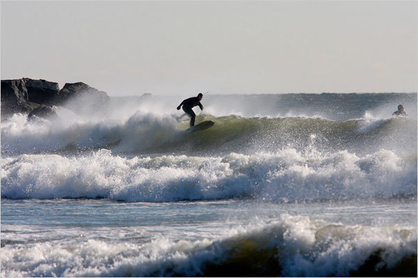 Surfer in the Rockaways of Queens. Originally profiled by the NY Times.