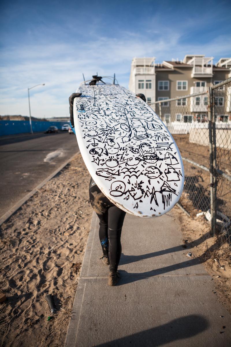 Board by: LA-based graffiti artist Gregory Siff