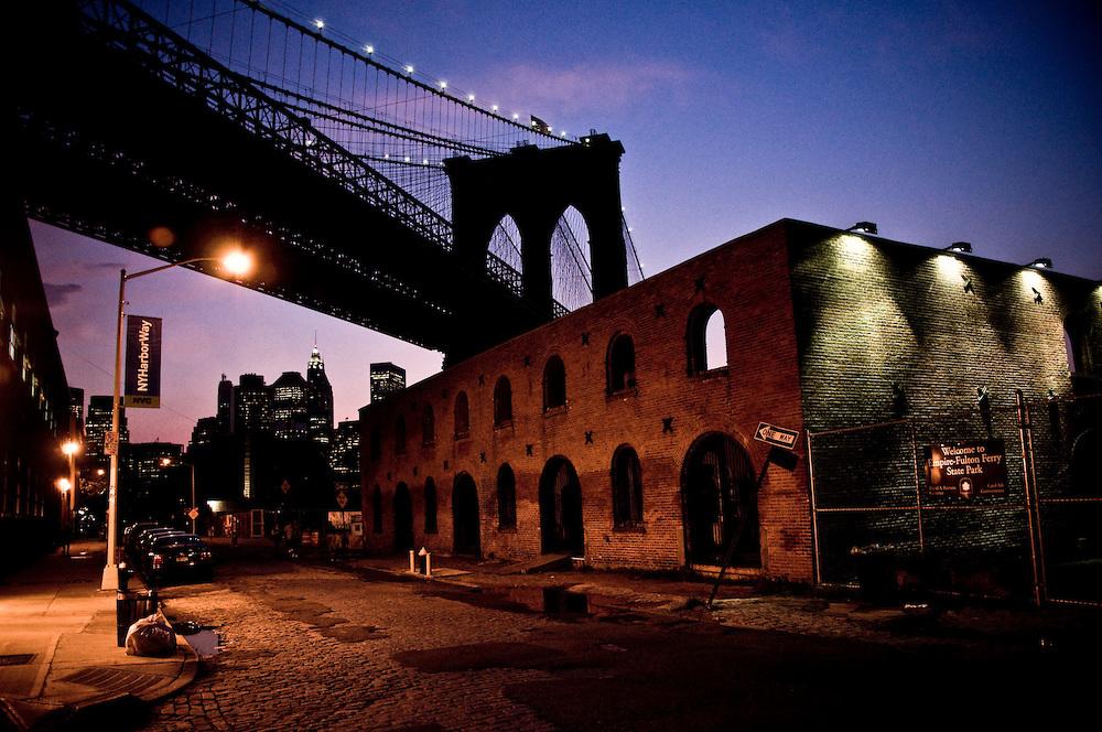 Sunset on Water Street, Brooklyn
