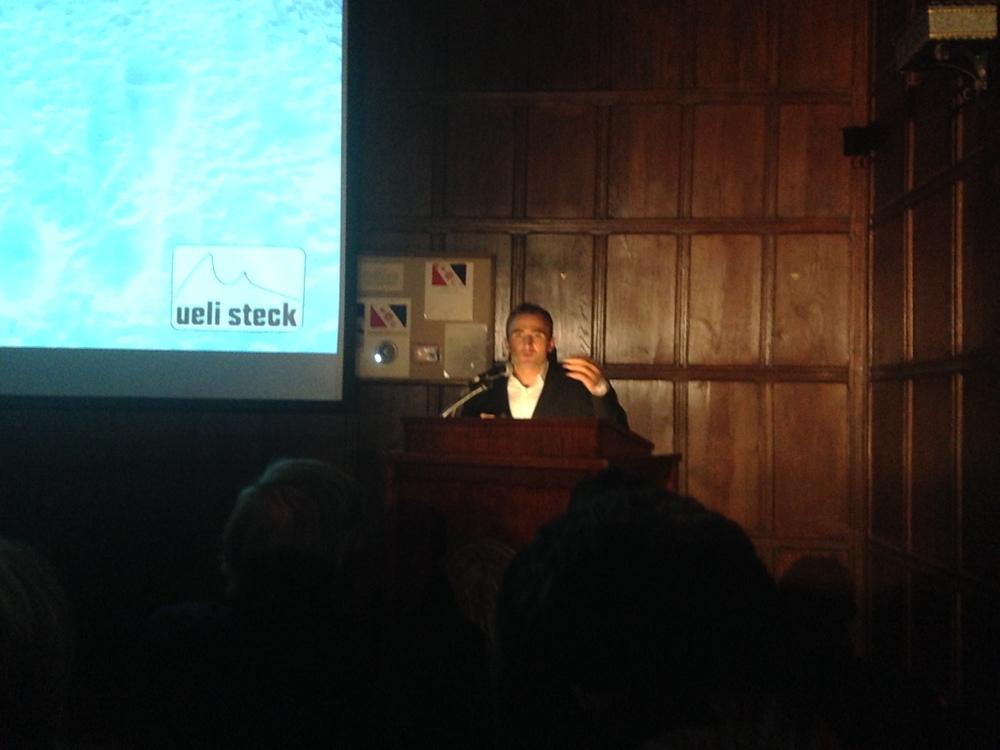 Ueli Steck speaks at the Explorers Club