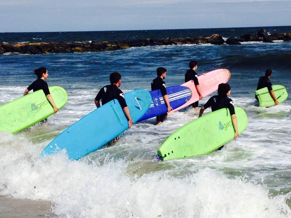 Team OutdoorFest Surfing at Rockaway Beach in 2014