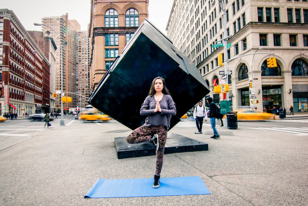 Angelica is the founder of Pop Up Yoga NYC.