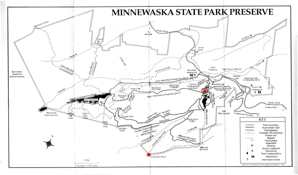 Map from LakeMinnewaska.org