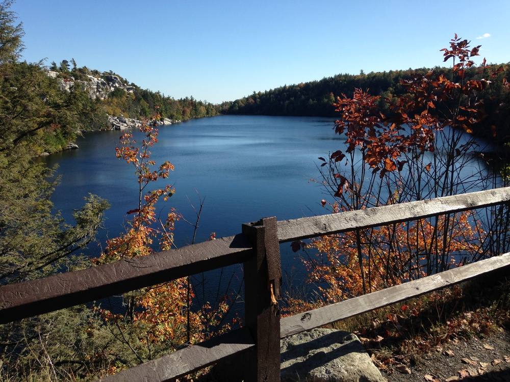 A short walk from the parking lot lies Lake Minnewaska