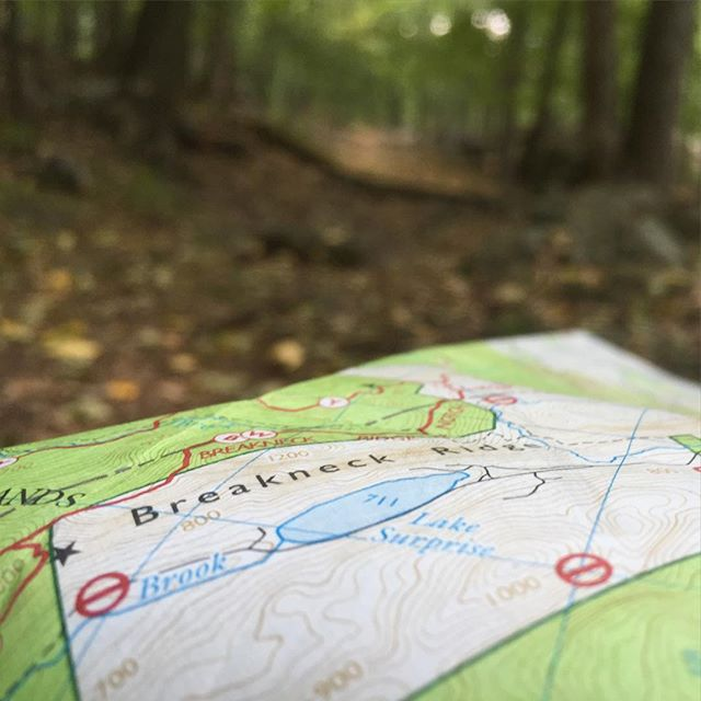 Map on the trail by Ben Tischler