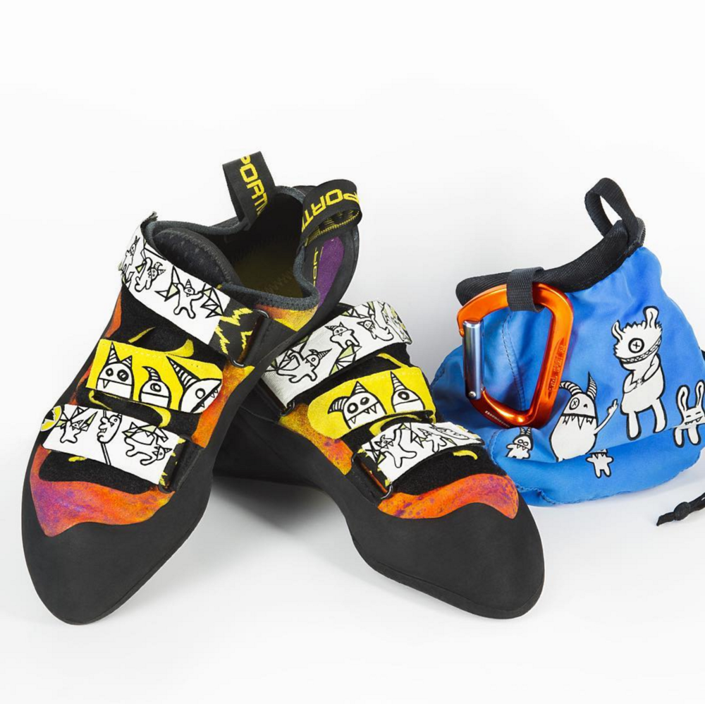 Custom climbing shoe & chalk bag design