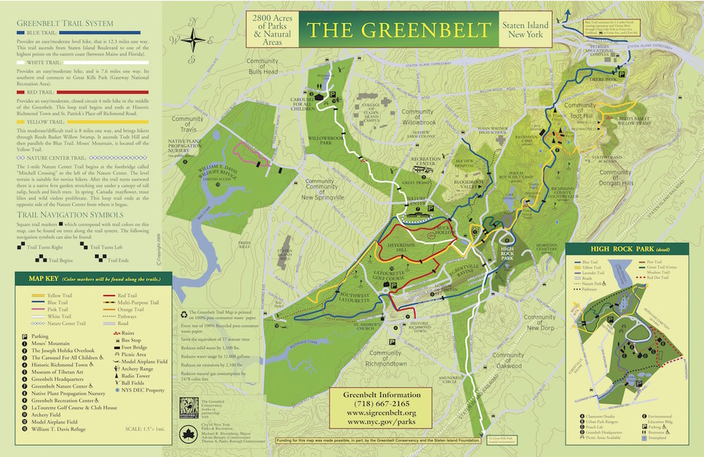 Map by the Staten Island Greenbelt Conservancy