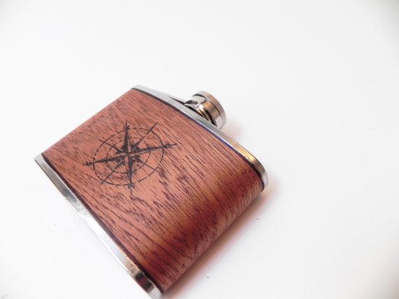 Compass Hip Flask | Resolute Star
