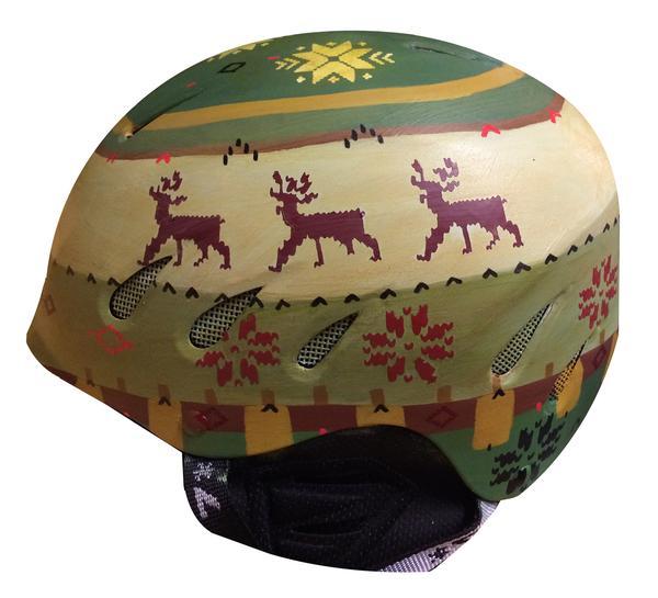 Handpainted Ski Helmet | Inkwell Helmets