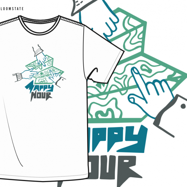 Official Mappy Hour T - $15.00Designed by MH community member Adena Lewin and printed on 100% Organic Cotton T's, the shirts not only look great but are the softest (and potentially most ethically produced) shirt you'll ever wear.