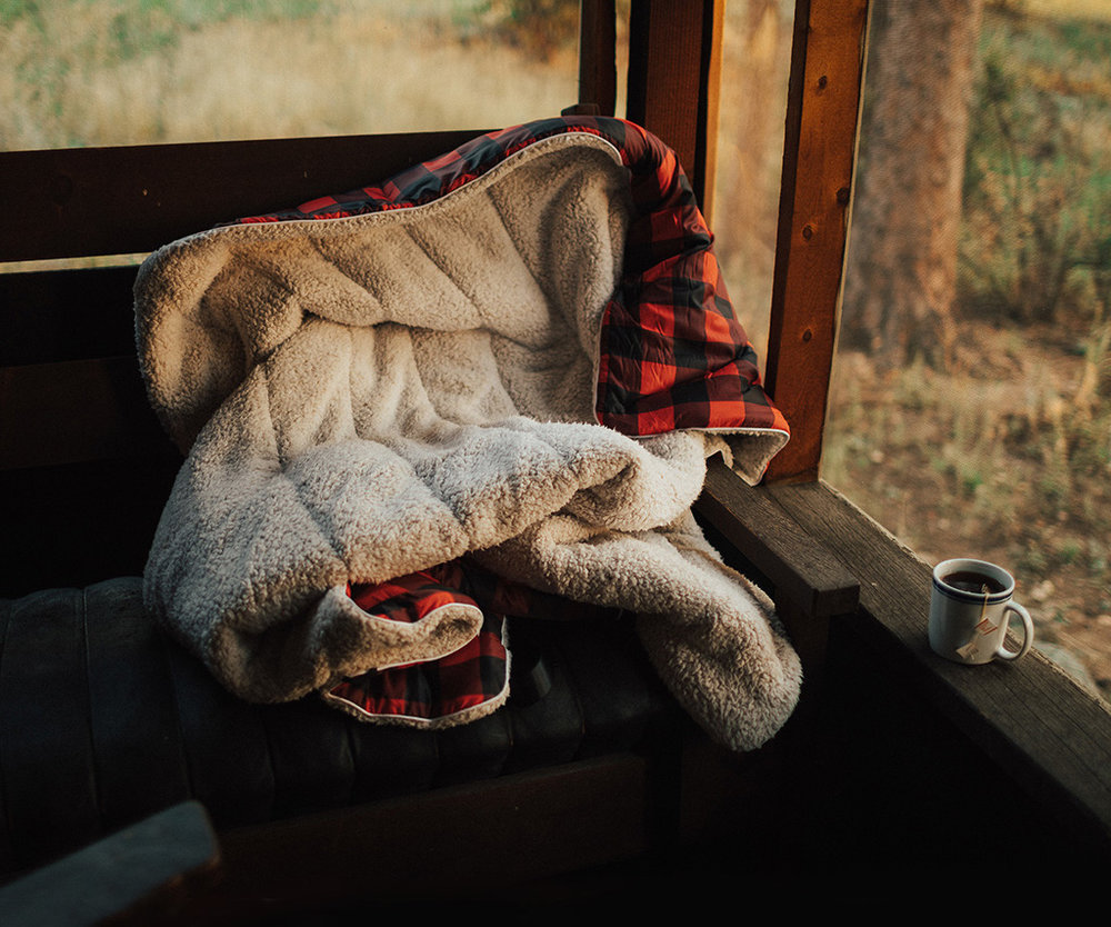 Rumpl Sherpa Puffy Blanket - $159This blanket is the perfect couch or cabin companion: it's cozy to