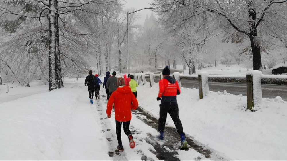 La conferencia comenzó con un trote matutino en Central Park.