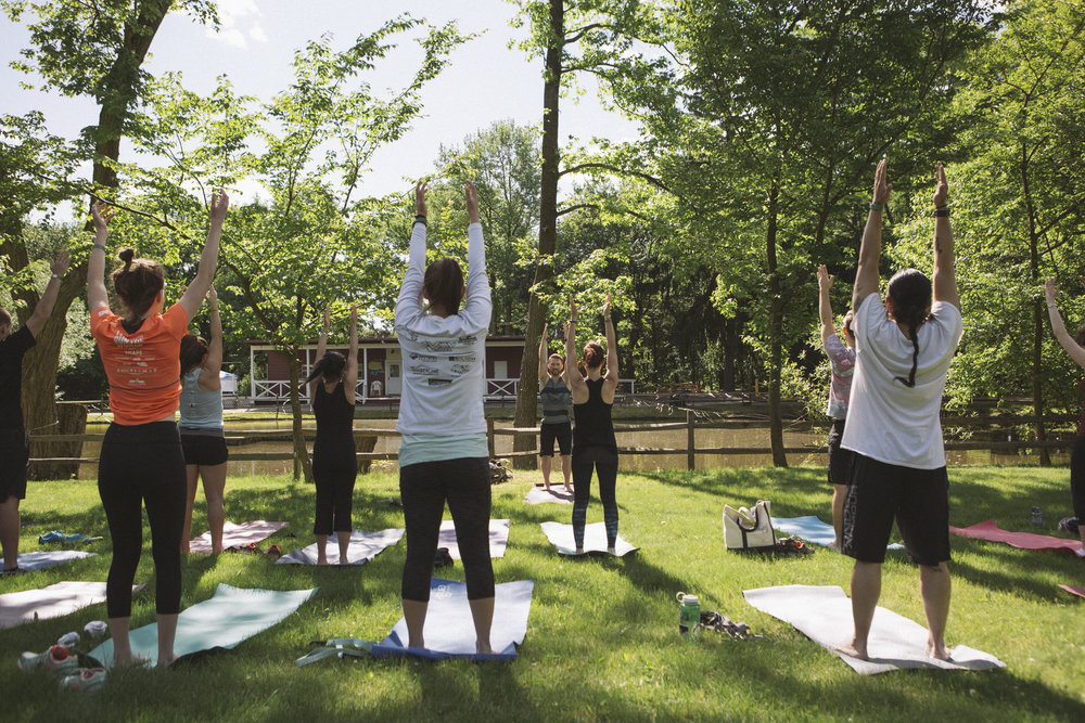 Yoga on the Staten Island Greenbelt