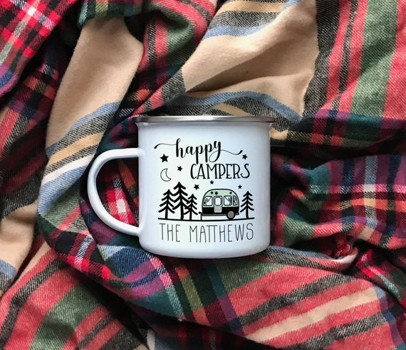 Happy Campers Personalized Mug