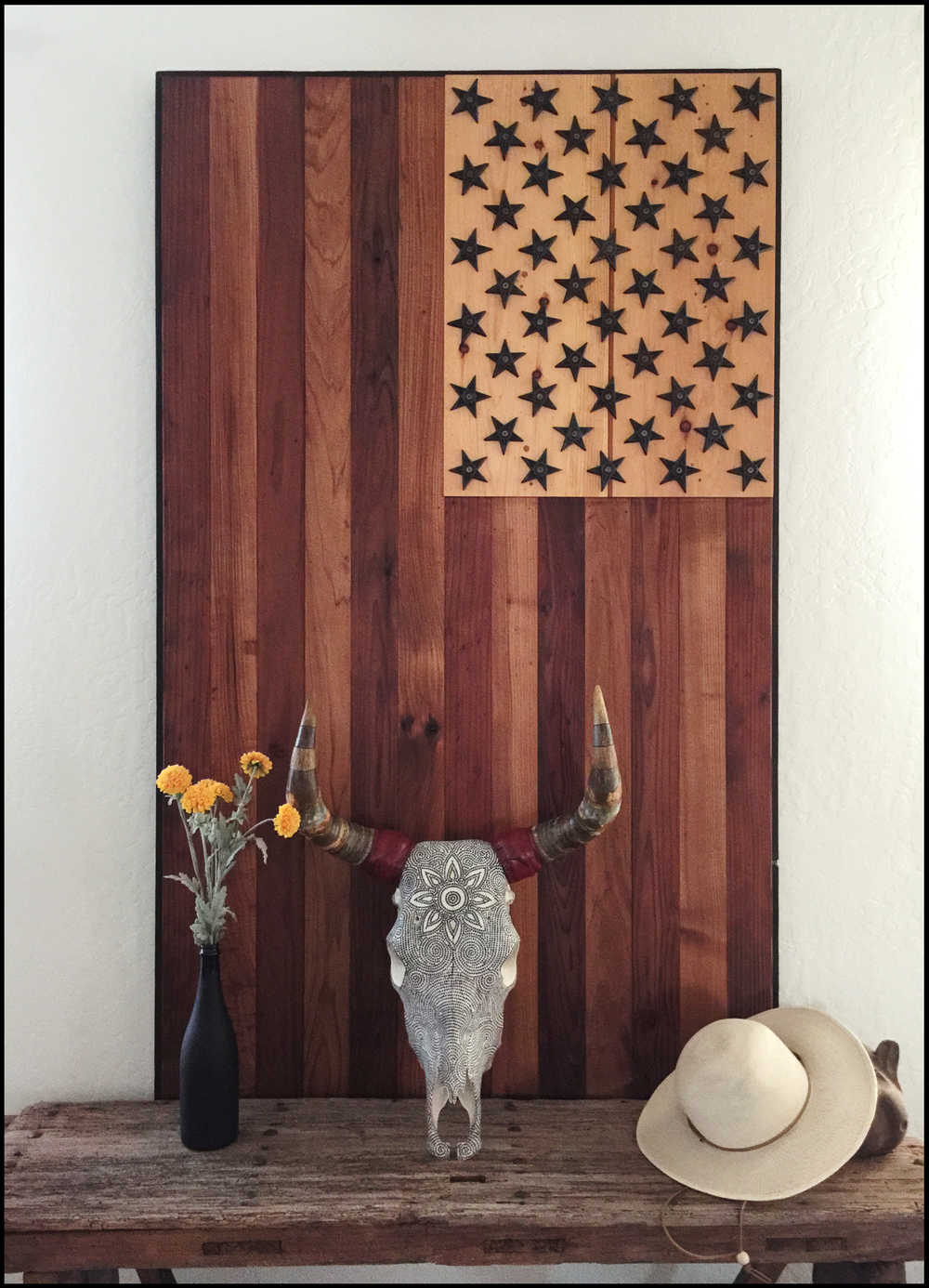 salvaged wood US Flag