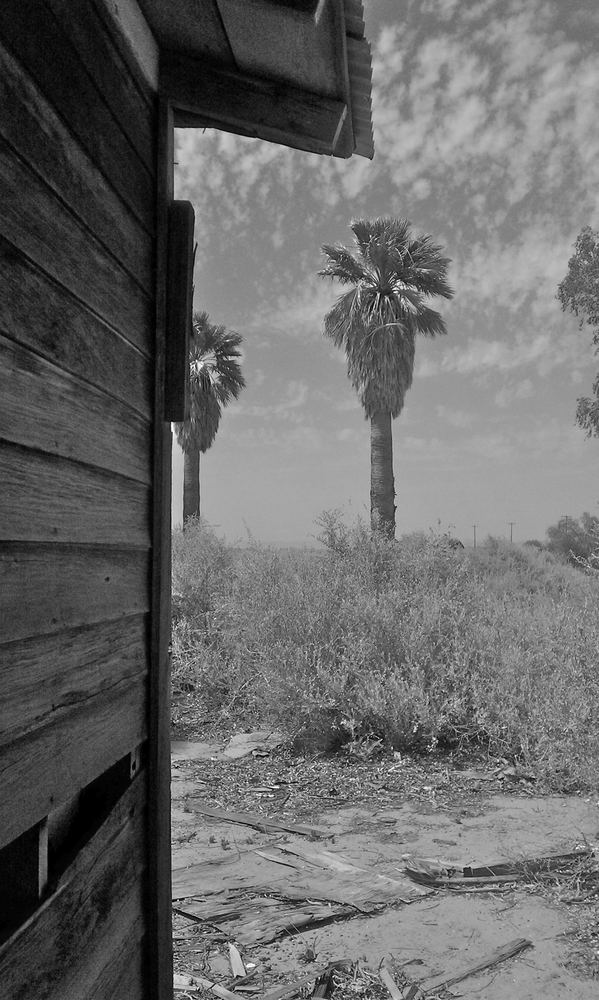 The wood for the US flag was salvaged from this dustbowl-era farmhouse between Agua Caliente and Roll, AZ.