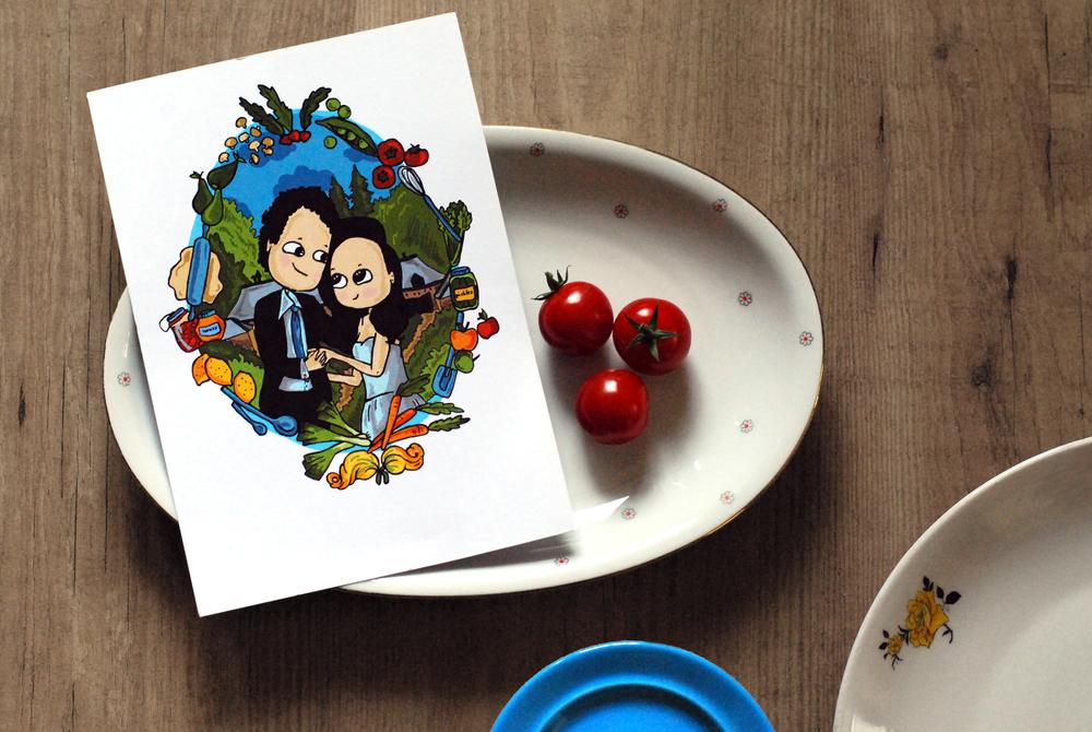 Nuria & Jochem's Wedding Invite © Anna Denise Floor