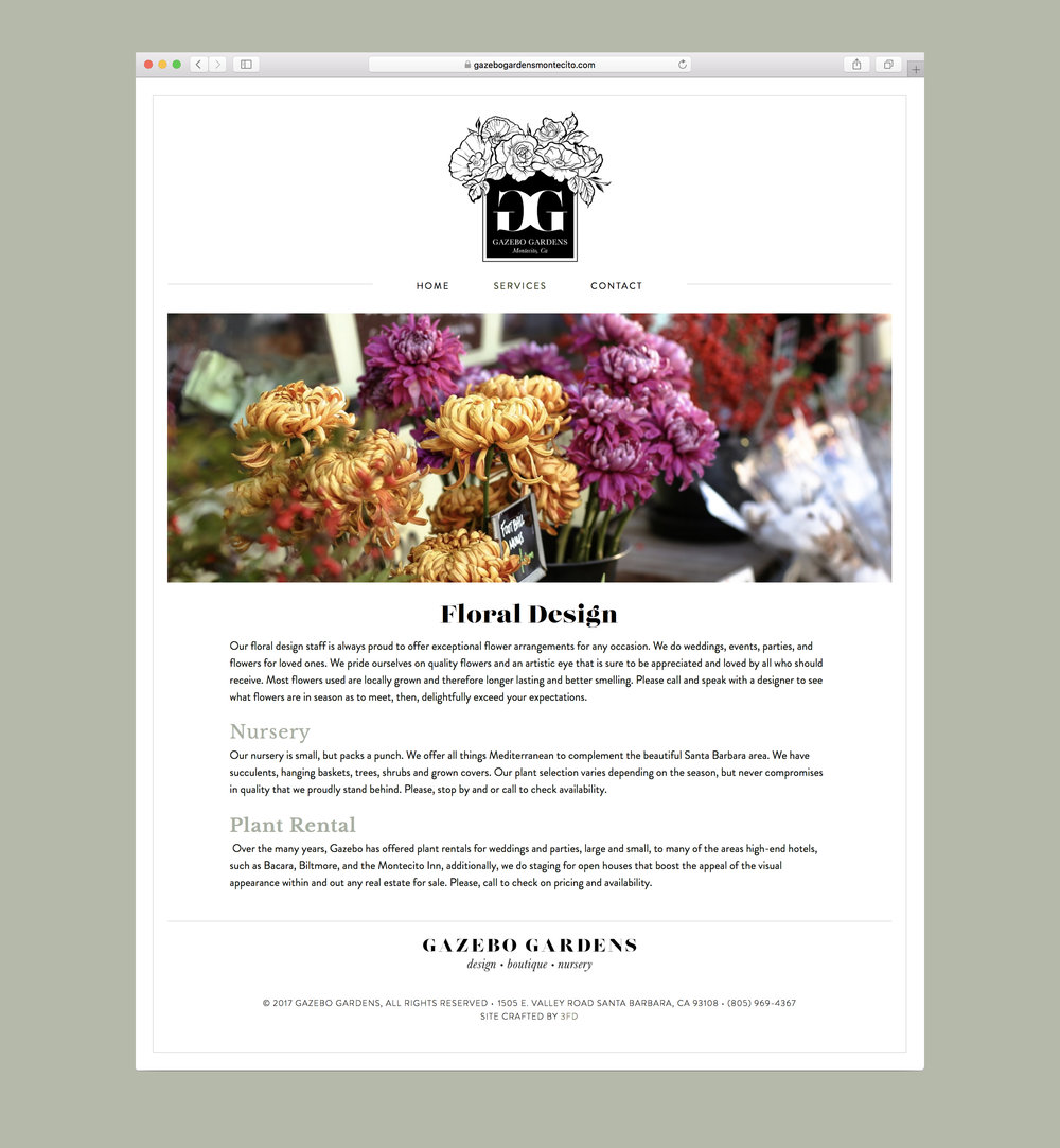 Florist website logo design