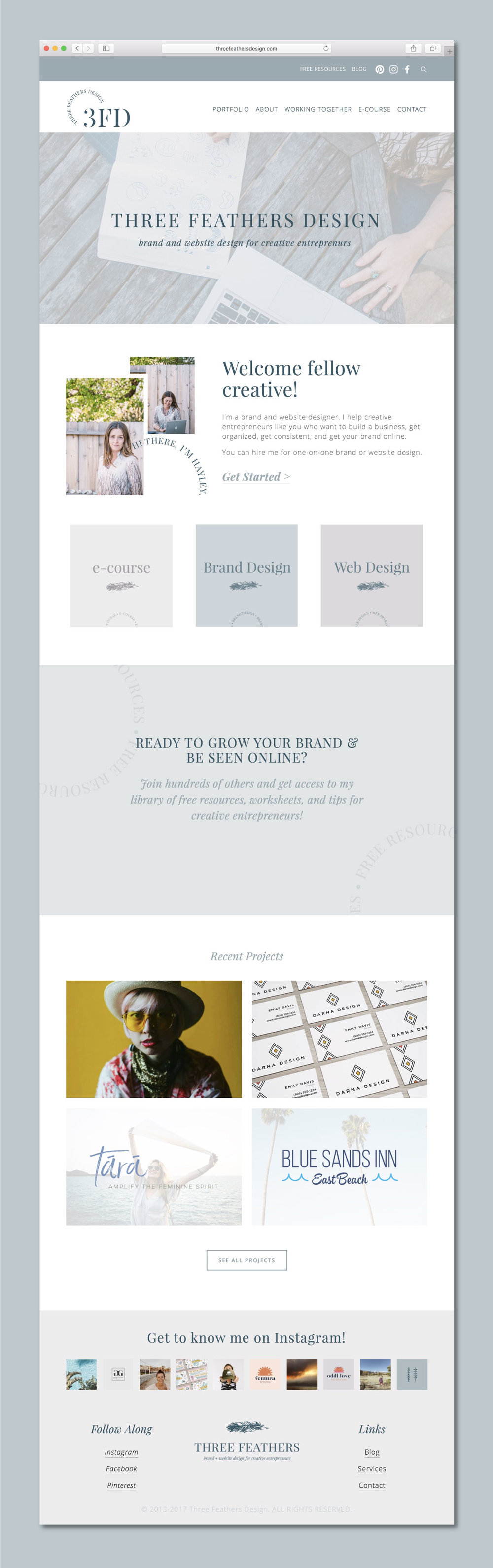 Graphic Designers Website On Squarespace