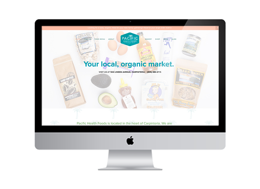 Health food store website