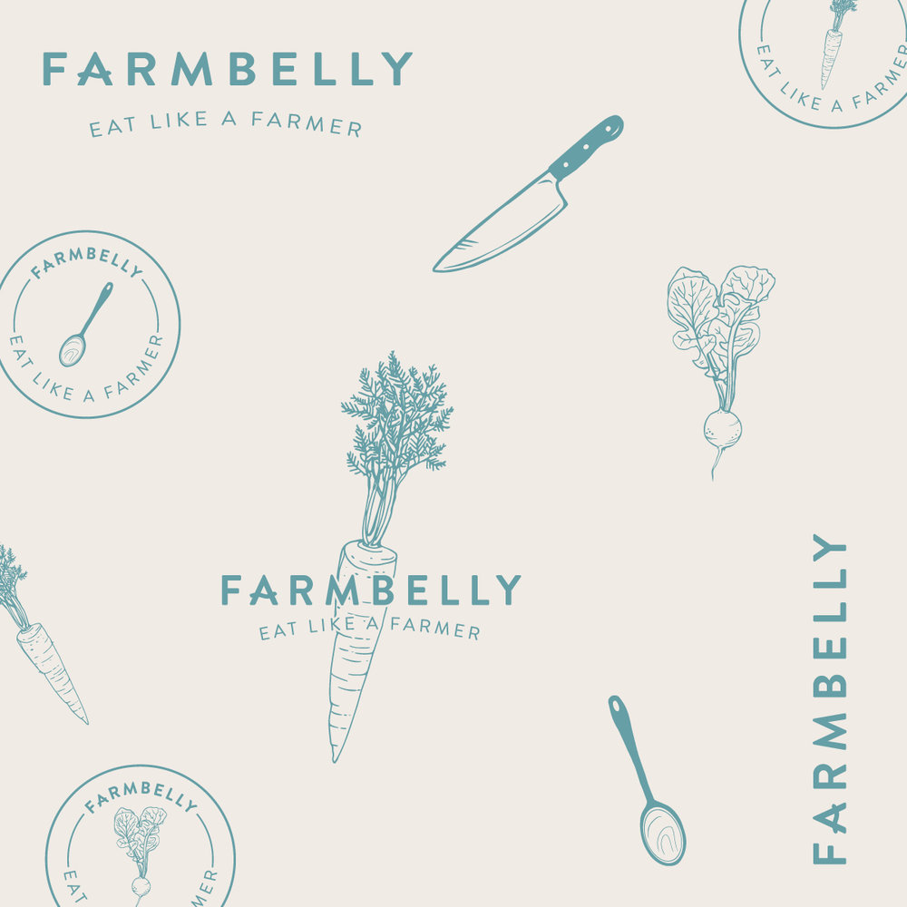 Logo and brand illustrations for local farmer