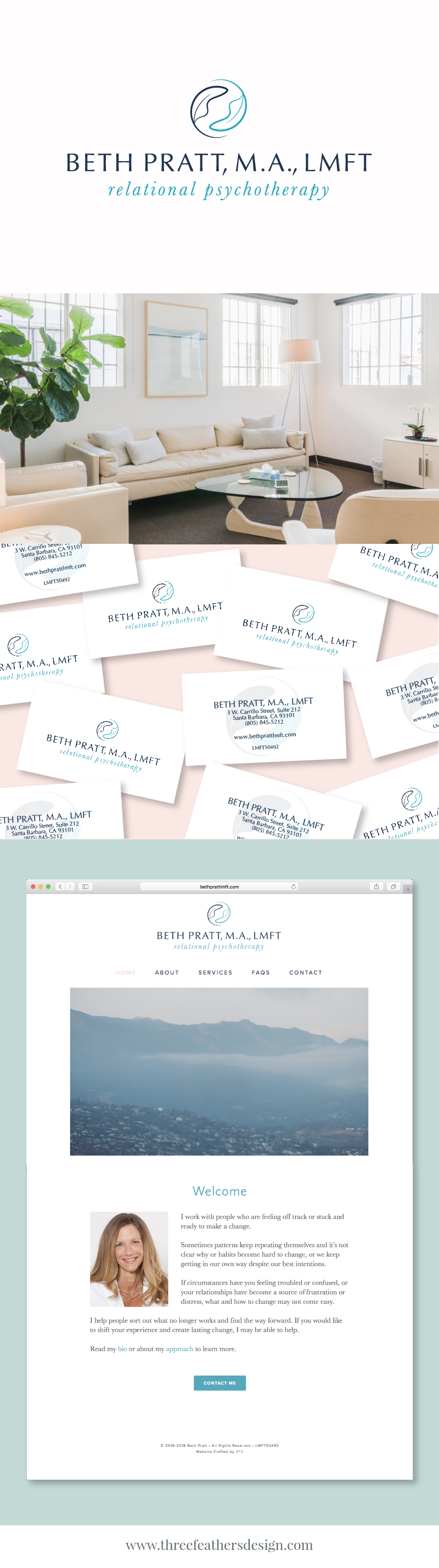modern feminine branding and squarespace website design