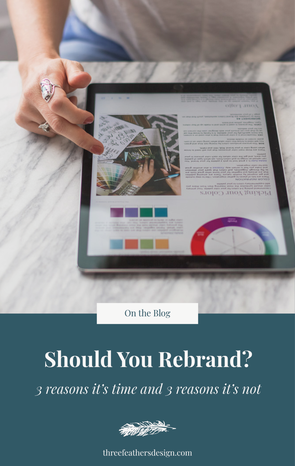 Should You Rebrand? | Three Feathers Design | threefeathersdesign.com