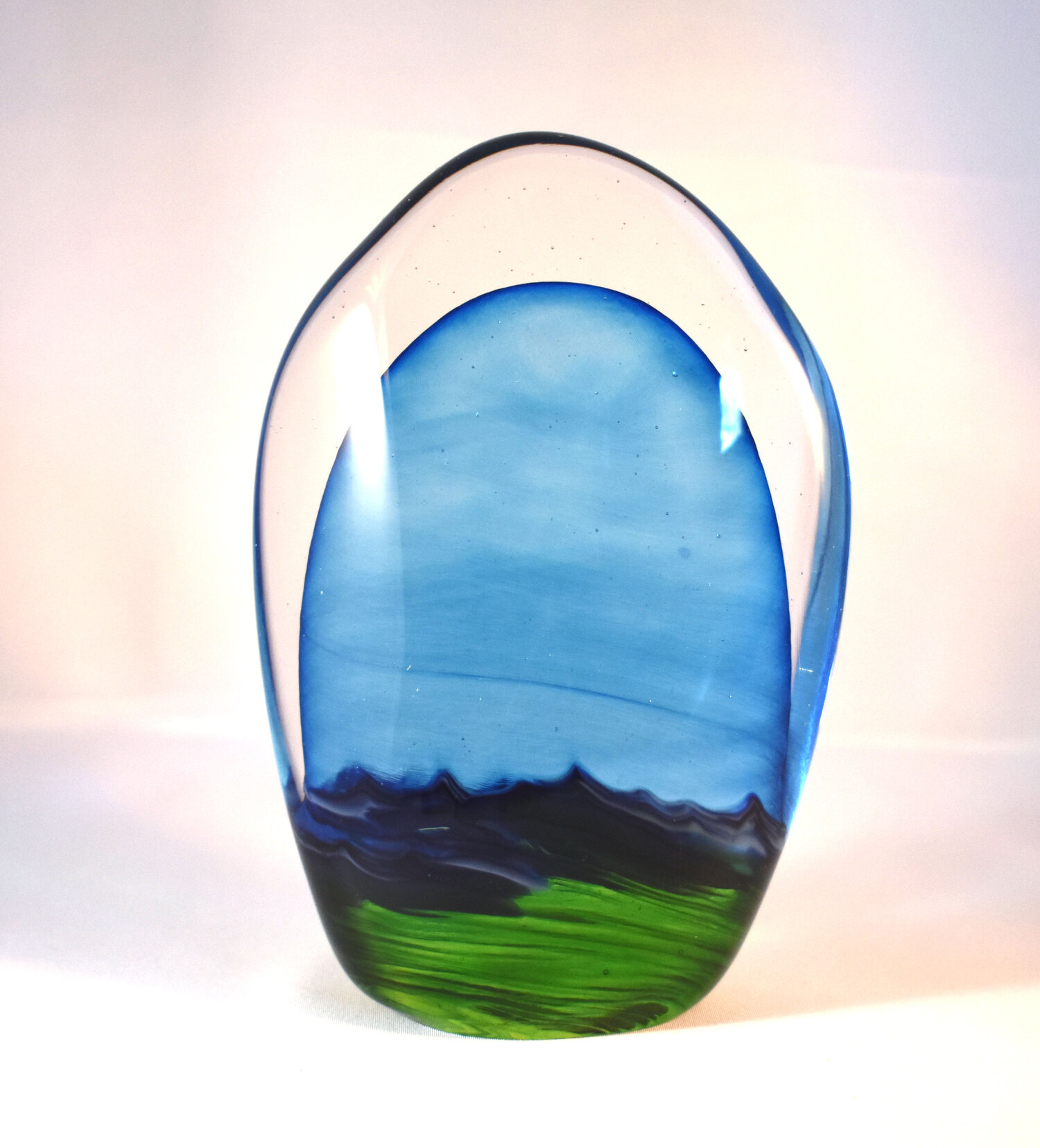 Alberta Landscape Stone by Nicole Tremblay  Fireweed Glass Studio