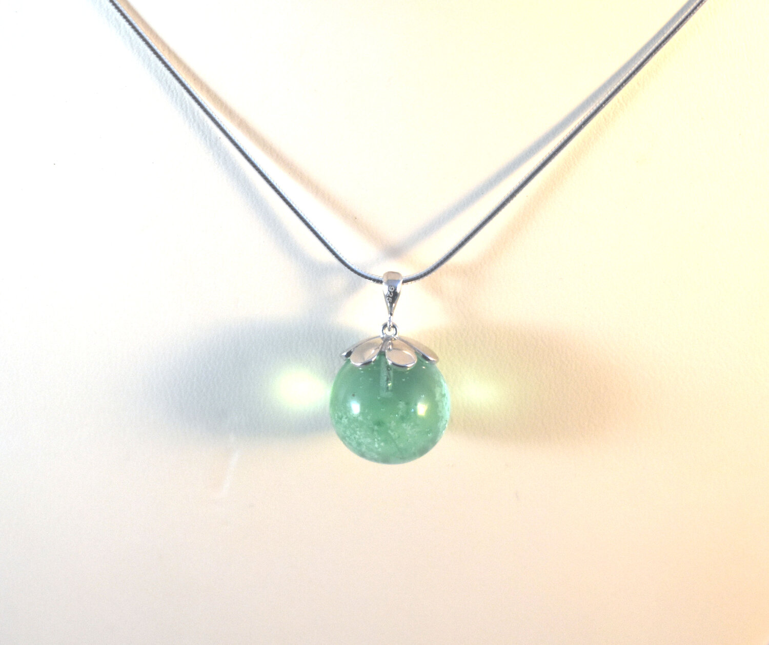 Ashes To Art Flower Cap Pendant by Nicole Tremblay  Fireweed Glass Studio