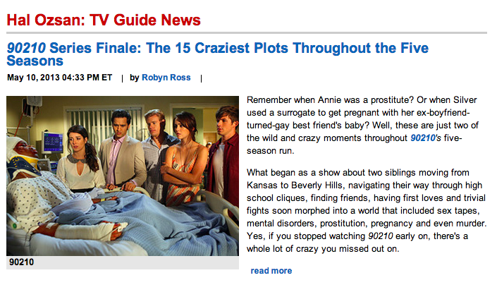 Hal Ozsan in TV Guide