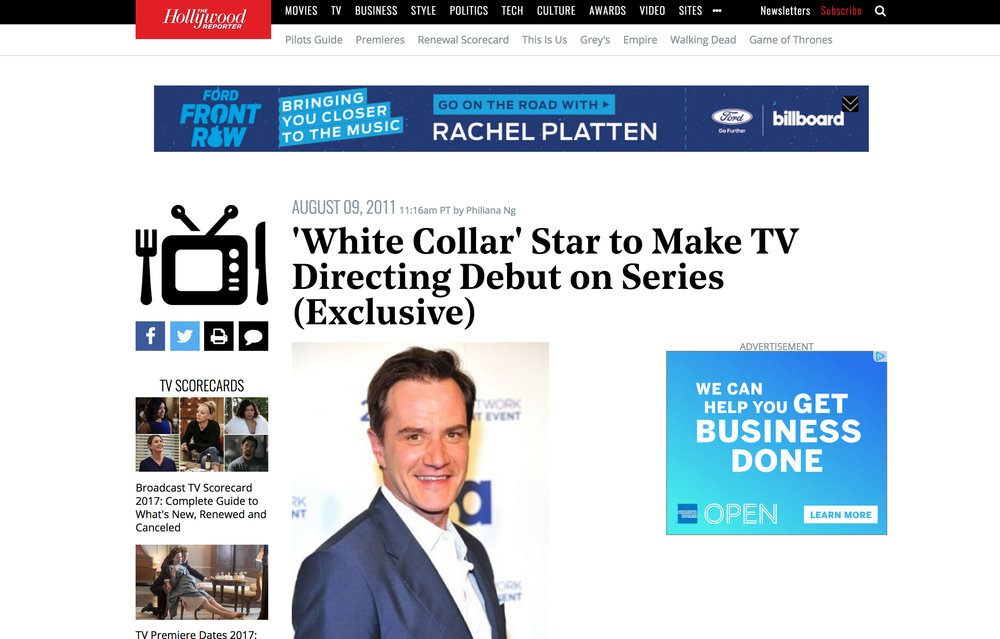 Hollywood Reporter / White Collar article