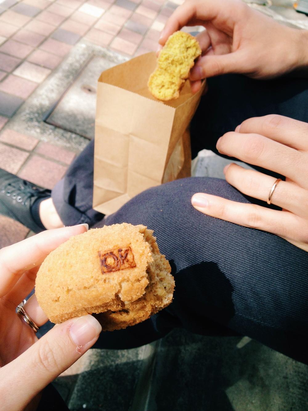 Tasty doughnuts in Meguro
