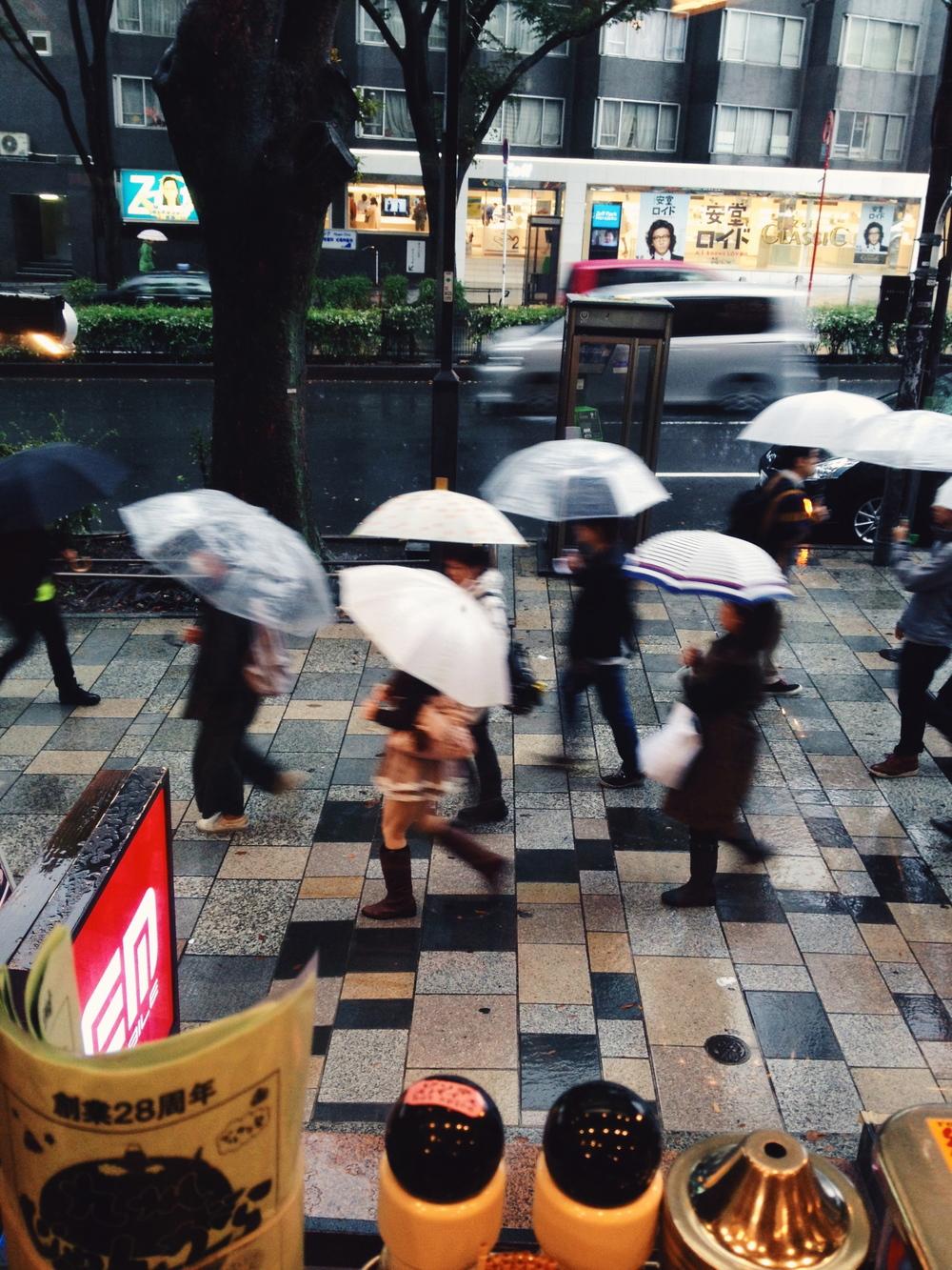 Rainy last day in Tokyo